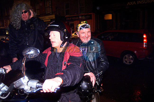 Padraig Duffy Arriving at McPails on a Harley, for his 50th Birthday...Pic Tony Campbell/Newsfile
