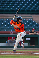 AZL Giants third baseman Jacob Gonzalez (52) at bat against the AZL Reds on August 12, 2017 at Scottsdale Stadium in Scottsdale, Arizona. AZL Giants defeated the AZL Reds 1-0. (Zachary Lucy/Four Seam Images)