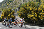 The breakaway group during Stage 1 of Il Giro di Sicilia running 165km from Catania to Milazzo, Italy. 3rd April 2019.<br /> Picture: LaPresse/Fabio Ferrari | Cyclefile<br /> <br /> <br /> All photos usage must carry mandatory copyright credit (© Cyclefile | LaPresse/Fabio Ferrari)