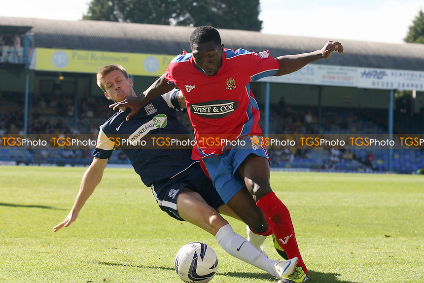 Oluwafemi Ilesanmi of Dagenham - Southend vs Dagenham at the London Borough of Roots Hall Stadium  - 08/09/12 - MANDATORY CREDIT: Dave Simpson/TGSPHOTO - Self billing applies where appropriate - 0845 094 6026 - contact@tgsphoto.co.uk - NO UNPAID USE.