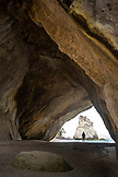 NEW ZEALAND, Coromandel Peninsula, Woman Standing in Cathedral Cove, Ben M Thomas