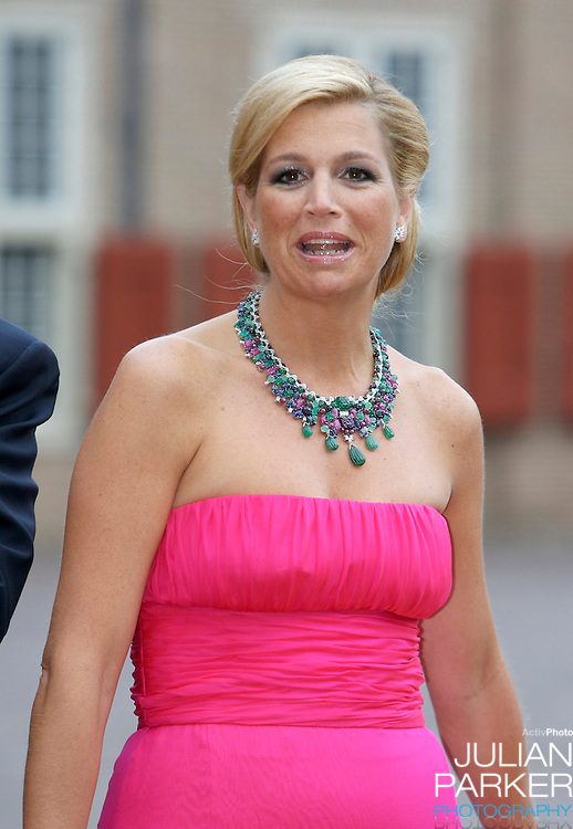 Crown Princess Maxima of Holland,  arrives for a Reception at Het Loo Palace in Apeldoorn, to celebrate the 40th Birthday of Crown Prince Willem Alexander, The Prince turned forty in April earlier this year.