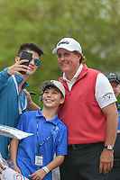 Phil Mickelson (USA) takes a selfie following his match during day 3 of the World Golf Championships, Dell Match Play, Austin Country Club, Austin, Texas. 3/23/2018.<br /> Picture: Golffile | Ken Murray<br /> <br /> <br /> All photo usage must carry mandatory copyright credit (&copy; Golffile | Ken Murray)