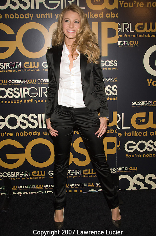 "Actor Blake Lively arrives at the party for the premiere of the CW Network's ""Gossip Girl"" September 18, 2007, at Tenjune in New York City. (Pictured : BLAKE LIVELY)."