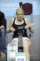 Birmingham, Great Britain, Women's Open Exhausted competitor, at the 2008 British Indoor Rowing Championships, National Indoor Arena. on  Sunday 26.10.2008 .   [Photo, Peter Spurrier/Intersport-images] ..