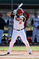 February 28, 2010:  First Baseman Paul Karmas of St. John's Red Storm during the Big East/Big 10 Challenge at Raymond Naimoli Complex in St. Petersburg, FL.  Photo By Mike Janes/Four Seam Images