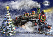 Marcello, CHRISTMAS LANDSCAPES, WEIHNACHTEN WINTERLANDSCHAFTEN, NAVIDAD PAISAJES DE INVIERNO, paintings+++++,ITMCXM2132,#xl#,locomotive,train ,puzzle,puzzles