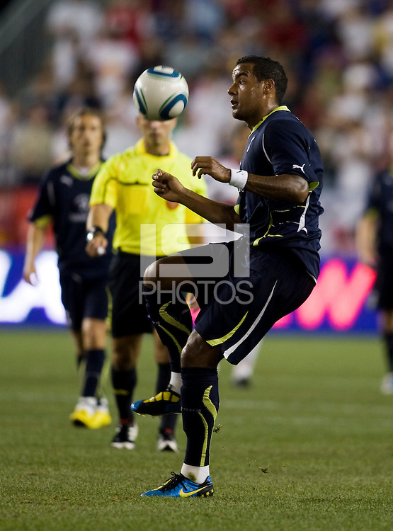 Tom Huddlestone.  Tottenham defeated the New York Red Bulls, 2-1.
