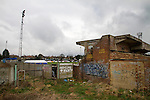 Wealdstone 0 Newport County 0, 17/03/2012. St Georges Stadium, FA Trophy Semi Final. Graffiti daubed on walls on the perimeter of St Georges Stadium, home ground of Wealdstone FC, before the club played host to Newport County in the semi-final second leg of the F.A. Trophy. The game ended in a goalless draw, watched by a capacity crowd of 2,092 which meant the visitors from Wales progressed by three goals to one to the competition's final at Wembley, where they would meet York City. The F.A. Trophy was the premier cup competition for non-League clubs in England and Wales affiliated to the Football Association. Photo by Colin McPherson.