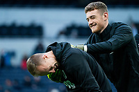 Bournemouth's Aaron Ramsdale and Mark Travers during the pre-match warm-up <br /> <br /> Photographer Stephanie Meek/CameraSport<br /> <br /> The Premier League - Tottenham Hotspur v Bournemouth - Saturday 30th November 2019 - Tottenham Hotspur Stadium - London<br /> <br /> World Copyright © 2019 CameraSport. All rights reserved. 43 Linden Ave. Countesthorpe. Leicester. England. LE8 5PG - Tel: +44 (0) 116 277 4147 - admin@camerasport.com - www.camerasport.com