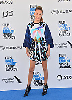 SANTA MONICA, CA. February 23, 2019: Elizabeth Chambers at the 2019 Film Independent Spirit Awards.<br /> Picture: Paul Smith/Featureflash