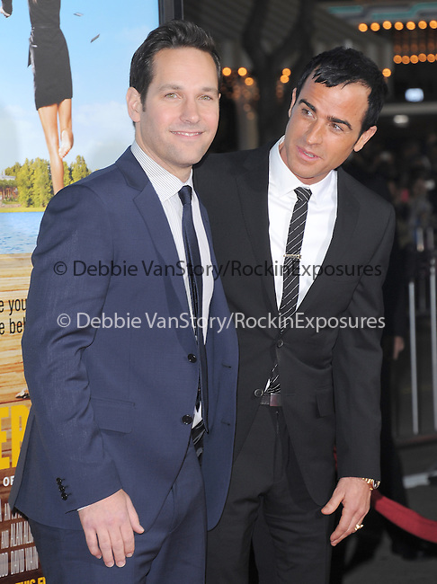 Paul Rudd and Justin Theroux at The Universal Pictures World Premiere of Wanderlust held at The Mann Village Theatre in Westwood, California on February 16,2012                                                                               © 2012 Hollywood Press Agency