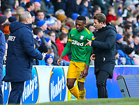 Preston North End's Darnell Fisher is sent off<br /> <br /> Photographer Alex Dodd/CameraSport<br /> <br /> The EFL Sky Bet Championship - Blackburn Rovers v Preston North End - Saturday 9th March 2019 - Ewood Park - Blackburn<br /> <br /> World Copyright © 2019 CameraSport. All rights reserved. 43 Linden Ave. Countesthorpe. Leicester. England. LE8 5PG - Tel: +44 (0) 116 277 4147 - admin@camerasport.com - www.camerasport.com
