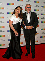 Gloria Estefan and her husband, Emilio, arrive for the formal Artist's Dinner honoring the recipients of the 40th Annual Kennedy Center Honors hosted by United States Secretary of State Rex Tillerson at the US Department of State in Washington, D.C. on Saturday, December 2, 2017. The 2017 honorees are: American dancer and choreographer Carmen de Lavallade; Cuban American singer-songwriter and actress Gloria Estefan; American hip hop artist and entertainment icon LL COOL J; American television writer and producer Norman Lear; and American musician and record producer Lionel Richie.  <br /> Credit: Ron Sachs / Pool via CNP /MediaPunch