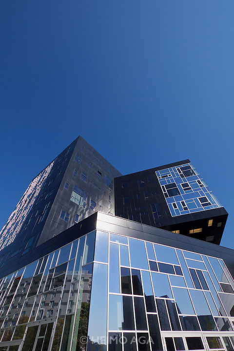 Vienna, Austria. The new WU Campus (University of Economics).<br /> WU Executive Academy by No.MAD Arquitectos, Madrid.