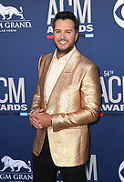 LAS VEGAS, NEVADA - APRIL 07: Luke Bryan attends the 54th Academy Of Country Music Awards at MGM Grand Hotel &amp; Casino on April 07, 2019 in Las Vegas, Nevada. <br /> CAP/MPIIS<br /> &copy;MPIIS/Capital Pictures
