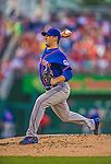 26 July 2013: New York Mets pitcher Matt Harvey on the mound against the Washington Nationals at Nationals Park in Washington, DC. The Nationals bounced back from their loss in the first game of their day/night doubleheader, with a 2-1 nightcap win. Mandatory Credit: Ed Wolfstein Photo *** RAW (NEF) Image File Available ***