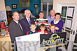 This week's Buy Kerry winner is Catherine Clifford who has chosen Corcoran's Carpets & Furniture as her buy Kerry Shop pictured here front l-r; Ciaran, Ronan & Liam Clifford, back l-r; Brendan Kennelly-Kerrys Eye, Michael Prendergast(Cahersiveen Credit Union), Julie Corcoran, Michael Clifford & our winner Catherine Clifford.