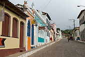 Lencois, Bahia State, Brazil. The village with colonial style buildings.