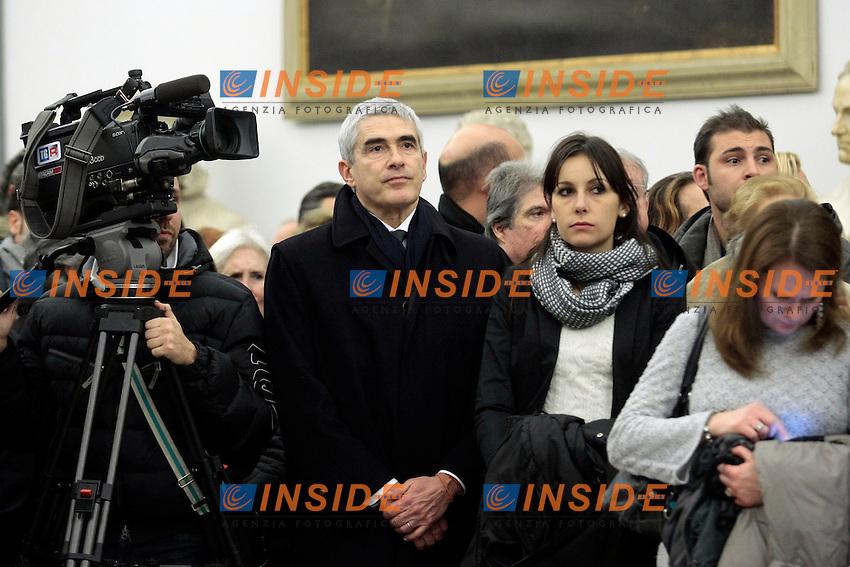 Pier Ferdinando Casini<br /> Roma 13-01-2014 Campidoglio. Camera ardente e funerali laici per Arnoldo Foa', morto a 98 anni.<br /> Photo Samantha Zucchi Insidefoto