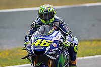 Valentino Rossi during the qualifying in Motorcycle Championship GP, in Jerez, Spain. April 23, 2016