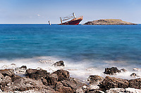 The shipwreck of Diakofti at Kythera, Greece