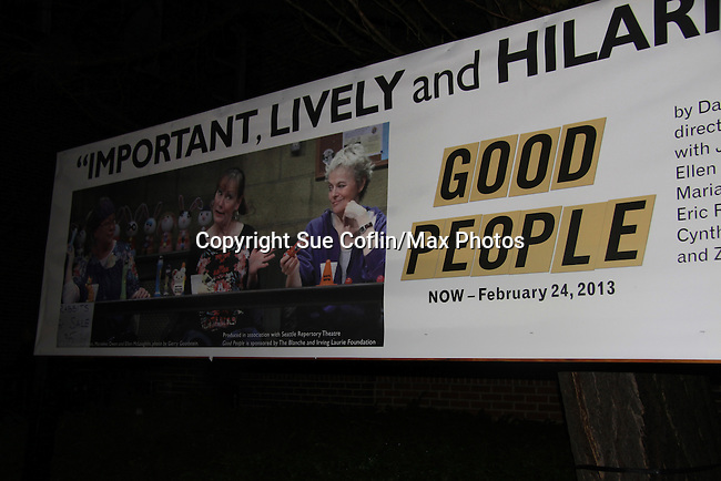 """One Life To Live John Bolger (also Another World and General Hospital) poses with (L to R)  Eric Riedmann, Cynthia Lauren Tewes (Love Boat cruise director """"Julie McCoy"""") and Marianne Owen star in """"Good People"""" on February 24, 2013 at the George Street Playhouse, New Brunswick NJ.  (Photo by Sue Coflin/Max Photos)"""