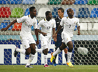 Ghana's Frank Acheampong (R) celebrate his goal with team mate during their FIFA U-20 World Cup Turkey 2013 Group Stage Group A soccer match Ghana betwen USA at the Kadir Has stadium in Kayseri on June 27, 2013. Photo by Aykut AKICI/isiphotos.com
