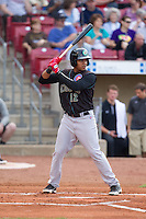 Kane County Cougars third baseman Jeimer Candelario #12 bats during a game against the Cedar Rapids Kernels at Veterans Memorial Stadium on June 8, 2013 in Cedar Rapids, Iowa. (Brace Hemmelgarn/Four Seam Images)