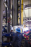 Floor hands work on the drilling deck of Parker Rig 272.