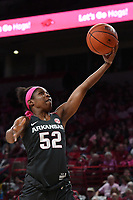 Arkansas' Rokia Doumbia makes a layup against Kentucky Sunday Feb 9, 2020 at Bud Walton Arena in Fayetteville. Arkansas won 103-85. More images are found at nwaonline.com/uabball/ (NWA Democrat-Gazette/J.T. Wampler)