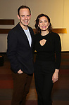 "Harry Hadden-Paton and Laura Benanti attends the ""My Fair Lady"" Re-Opening Celebration at the Vivian Beaumont Theatre on January 27, 2019 in New York City."
