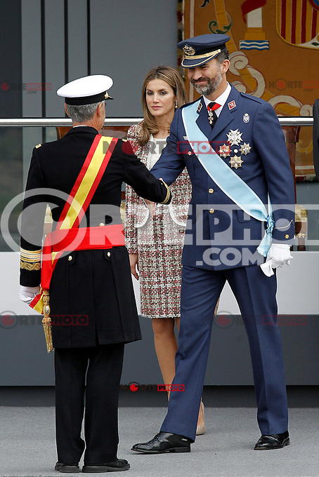 The Princes of Spain Letizia y Felipe attend the National Day Military Parad.October 12,2012.(ALTERPHOTOS/Acero) /NortePhotoAgency