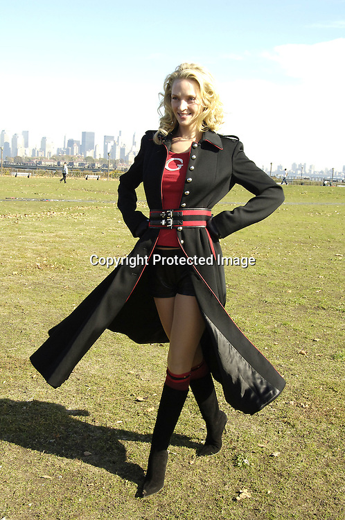 "Uma Thurman ..at a photo op for the new movie ""Super Ex-Girlfriend"" starring Uma Thurman and Luke Wilson and directed by Ivan Reitman  on November 4, 2005 at Liberty State Park. ..Photo by Robin Platzer, Twin Images"