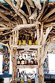 JAMAICA, Oracabessa. The bar at the Goldeneye Hotel and Resort.