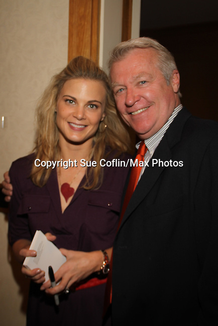 Gina Tognoni, Jerry verDorn at The One Life To Live Lucheon at the Hemsley Hotel in New York City, New York on October 9, 2010. (Photo by Sue Coflin/Max Photos)