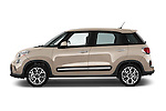 Car Driver side profile view of a 2014 Fiat 500L Trekking 5 Door Hatchback Side View