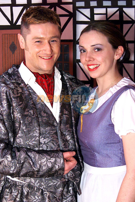 Robbie Tiernan who plays the Beast and Bridget Estridge who plays Belle in Drogheda Pantomime Society's production of Beauty and the Beast..Picture: Paul Mohan/Newsfile