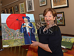 Tiny Thornton with her painting at the Lifestyle Development Group Exhibition in St Peters Church of Ireland Parish Hall.<br /> <br /> Photo: Jenny Matthews