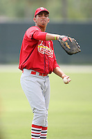 April 14, 2009:  First Baseman David Medina of the St. Louis Cardinals extended spring training team during a game at Roger Dean Stadium Training Complex in Jupiter, FL.  Photo by:  Mike Janes/Four Seam Images
