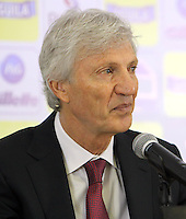BOGOTA -COLOMBIA, 16- 04-2014. Conferencia de prensa ofrecida por José Pekerman director tecnico de la seleccion Colombia de futbol de mayores sobre el plan de trabajo previo al mundial de Brasil-2014  en la sede deportiva de las selecciones Colombia de la FCF. Press conference by José Pekerman coach of Colombia's soccer selection higher on previous work plan to 2014 World Cup in Brazil-based sports selections Colombia FCF. Photo: VizzorImage / Nestor Silva / Cont