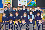 Pupils on their first day at school at Currow NS in Miss McGaley class on Tuesday was front row l-r: Padraig Brosnan, Liam O'Sullivan, Raymond O'Neill, Paddy Howard, Aidan McSweeney. Middle row: Mia Key, Ali O'Day, Cara Fleming, Danielle Huggard-Moriarty, Emma Buckley, India Burton. Back row: John O'Connor, Cathal Brosnan, Danielle Flynn, Celia McMahon, Fiona Brosnan, Mary Keane and Freddie Galwey