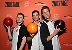 Jack DiFalco, Michael Urie and Ward Horton attend The Second Stage Theater's  32nd Annual All-Star Bowling Classic at the Lucky Strike on February 11, 2019 in New York City.