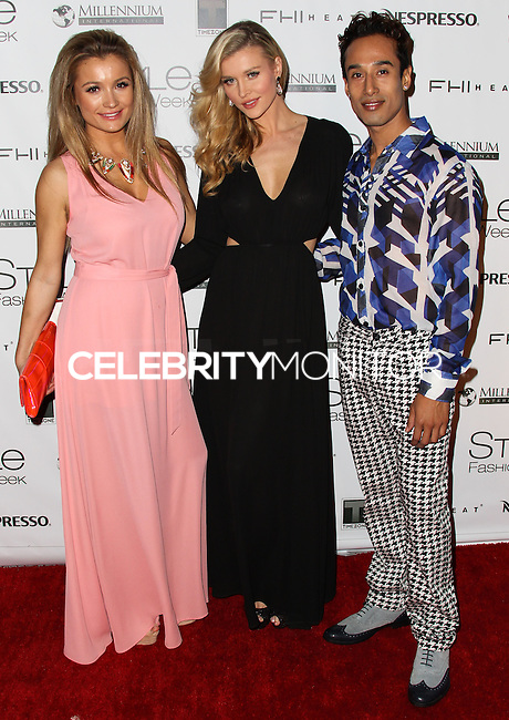 LOS ANGELES, CA, USA - MARCH 10: Marta Krupa, Joanna Krupa, Steve Galindo at the Style Fashion Week LA 2014 7th Season held at L.A. Live Event Deck on March 10, 2014 in Los Angeles, California, United States. (Photo by Xavier Collin/Celebrity Monitor)