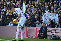 Leeds United fans watch on as Pablo Hernandez takes a corner<br /> <br /> Photographer Alex Dodd/CameraSport<br /> <br /> The EFL Sky Bet Championship - Leeds United v Bolton Wanderers - Saturday 23rd February 2019 - Elland Road - Leeds<br /> <br /> World Copyright © 2019 CameraSport. All rights reserved. 43 Linden Ave. Countesthorpe. Leicester. England. LE8 5PG - Tel: +44 (0) 116 277 4147 - admin@camerasport.com - www.camerasport.com