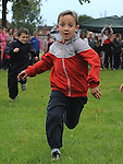Michael Leddy running in the under 8 race at Moneymore sports day. Photo: www.pressphotos.ie