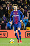 Gerard Pique of FC Barcelona in action during the La Liga 2017-18 match between FC Barcelona and Deportivo La Coruna at Camp Nou Stadium on 17 December 2017 in Barcelona, Spain. Photo by Vicens Gimenez / Power Sport Images