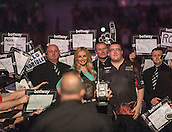09.04.2015. Sheffield, England. Betway Premier League Darts. Matchday 10.  Stephen Bunting [ENG] makes his way to the stage before his match against Michael van Gerwen [NED].