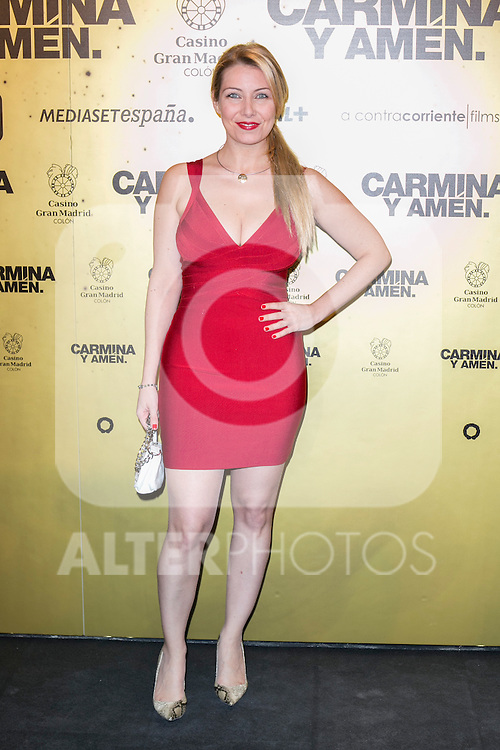 "Nazareth Jimenez  attend the Premiere of the movie ""Carmina y Amen"" at the Callao Cinema in Madrid, Spain. April 28, 2014. (ALTERPHOTOS/Carlos Dafonte)"