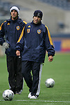 21 November 2009: Alecko Eskandarian. The Los Angeles Galaxy held a training session at Qwest Field in Seattle, Washington in preparation for playing Real Salt Lake in Major League Soccer's championship game, MLS Cup 2009, the following day.